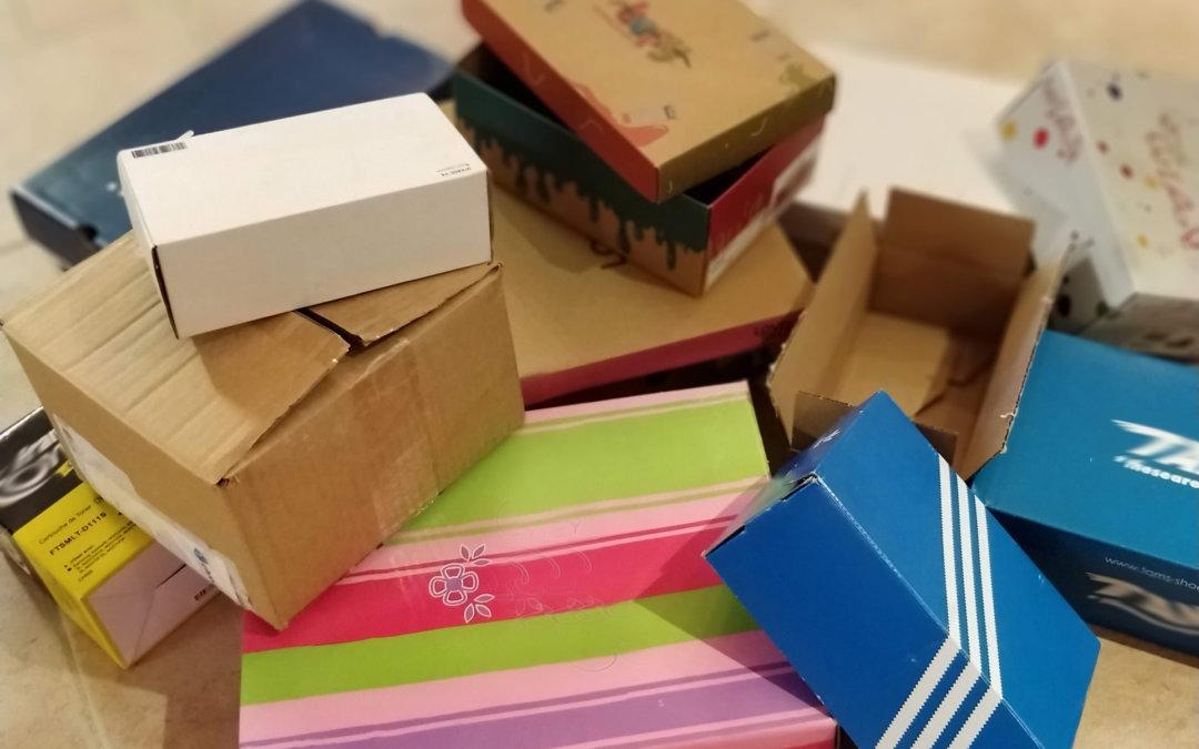 Vos colis dans un emballage réutilisé /able !